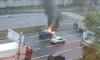 На Суздальском проспекте автомобиль был объят огнем