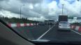 На внутреннем кольце КАД после Выборгского шоссе авария ...