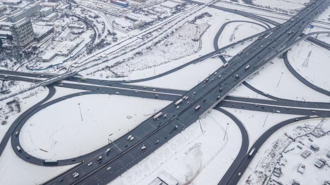 На обработку Кольцевой автомобильной дороги было использовано порядка 650 тонн соли