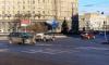 На Комсомольской площади столкнулись два автомобиля
