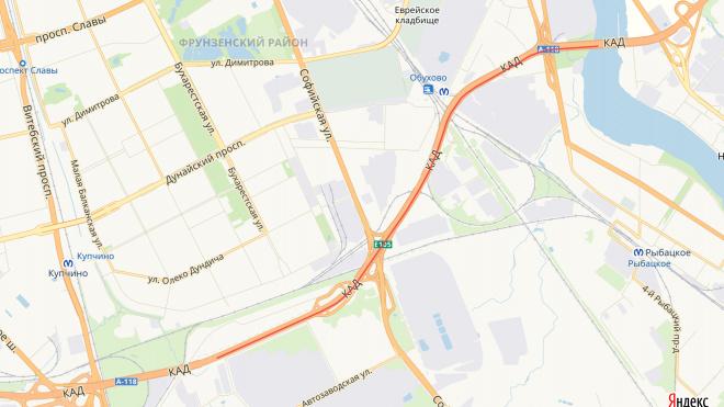 С 14 по 26 мая на участке КАД будет перекрыто две полосы