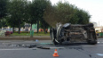 На площади Стачек разбился автомобиль каршеринга