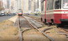 На Энгельса закончились основные работы по ремонту трамвайных путей