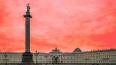 С ограждения Александрийской колонны на Дворцовой ...
