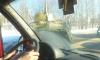 Под Петербургом боевой БТР перегородил дорогу после неудачного дрифта