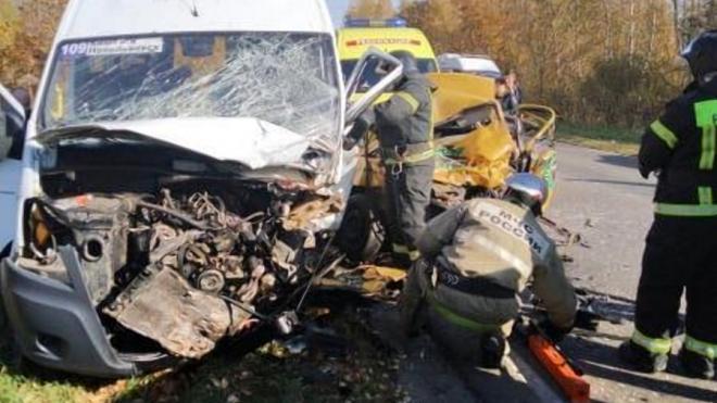 В Тульской области в ДТП с маршруткой и такси погибли 3 человека