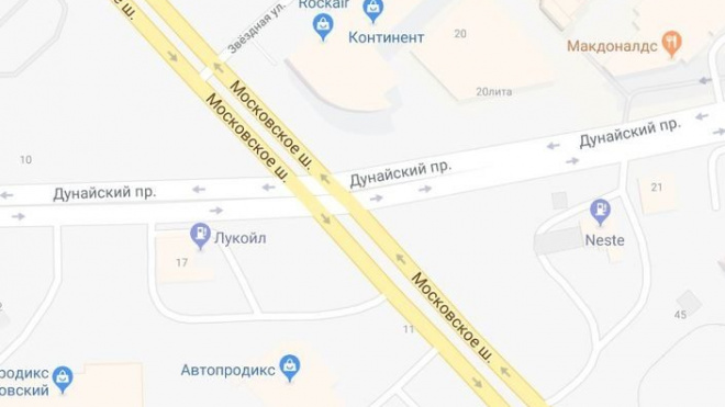На развязку Московского шоссе с Дунайским проспектом город потратит 13,8 млн рублей