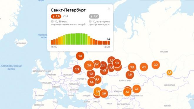 Петербург второй день подряд бьет антирекорд по самоизоляции
