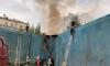 На улице Ефимова загорелось заброшенное здание