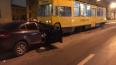 На Большой Пороховской в ДТП попал служебный трамвай