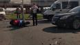 У моста Александра Невского сбили мотоциклиста