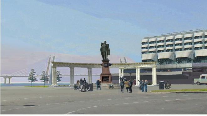 Архитекторы предложили установить памятник адмиралу Ушакову на площади Морской Славы