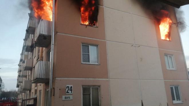 Под Красноярском в жилом доме произошел взрыв газа и пожар