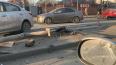 В результате ДТП на Выборгском шоссе Kia снесла светофор