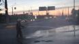На КАД в Петербурге опрокинулся грузовик с песком