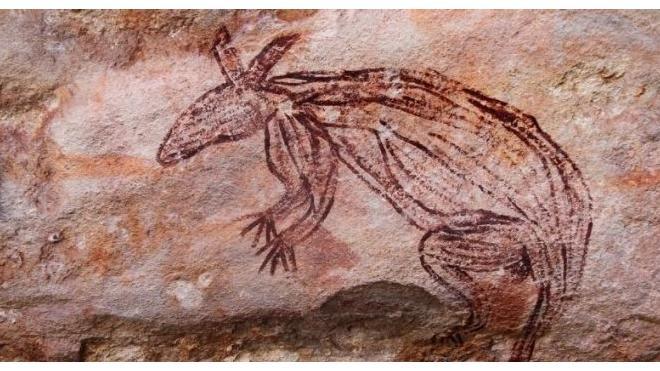 Совершенно новый тип пещерного рисунка обнаружен в Австралии