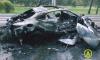 Иномарка врезалась в дерево и загорелась на Приморском шоссе