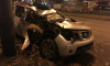 Водитель Nissan попал в реанимацию, протаранив столб на Комендантском