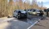 Иномарка вылетела на встречку на Копорском шоссе