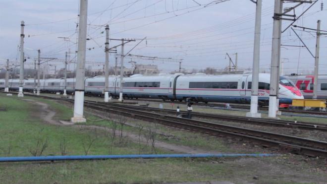 """Поезда """"Аллегро"""" не смогли вовремя добраться из Хельсинки в Петербург из-за снегопада"""