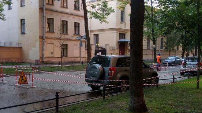 На 14-ой линии Васильевского острова кипяток залили припаркованные машины