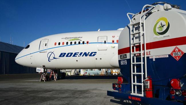 Boeing к 2030 году намерен сертифицировать самолеты, работающие на биотопливе