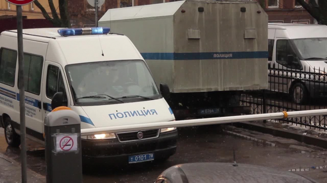 В Петергофе кроме крокодила оперативники обнаружили мину, патроны и оружие