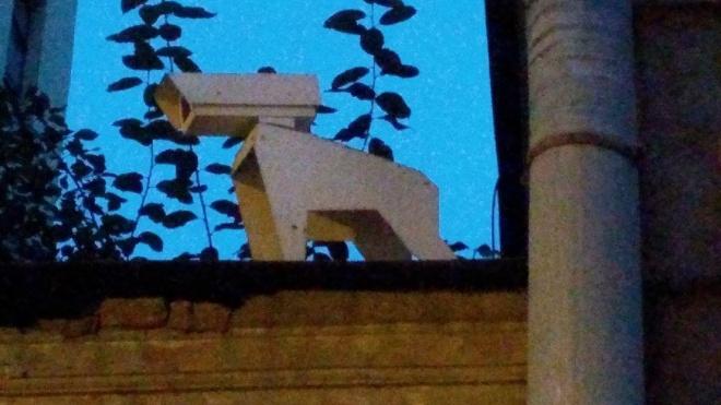 В центре Петербурга неизвестные замаскировали камеру слежения под собаку