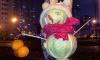Фото: петербуржцы сделали снеговика из кочанов капусты