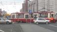 На проспекте Просвещения трамвай сошел с рельс, копится ...