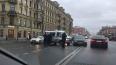 На Невском проспекте машина полиции столкнулась с ...