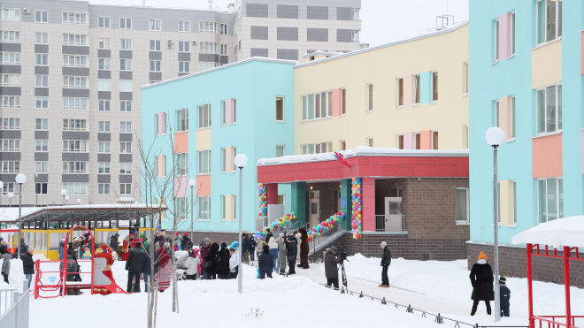 На Васильевском острове открылся сад на 195 человек