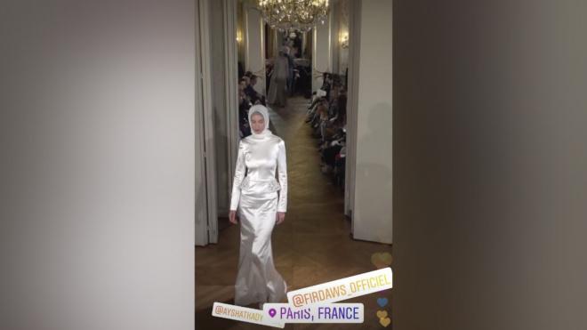 В Париже прошел показ модной коллекции дочери Кадырова