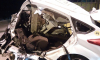 Жуткое ДТП в Ломоносове: на большой скорости легковушка впечаталась в столб