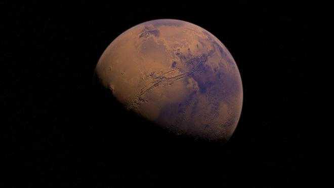 Под марсианскими ледниками нашли систему озер