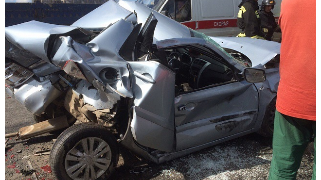 Авария на Руставели создала огромную пробку