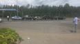На Колтушском шоссе машины выстроились в паровозик