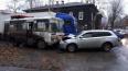 В Томске иномарка протаранила маршрутный ПАЗ с пассажира...
