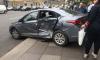 Иномарку после столкновения выбросило на тротуар Литейного проспекта