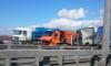 Смертельное ДТП на КАД: фура влетела в КамАЗ с щебнем