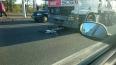 Грузовик сбил велосипедистку на Петергофском шоссе ...