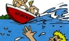 В Петербурге мужчина прыгнул в воду за кроссовкой