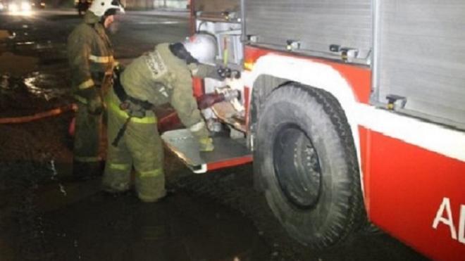 Из горящего дома на Детскосельской ночью эвакуировали 5 человек