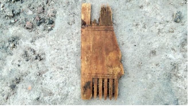 На территории квартала Сета Солберга обнаружен гребень XV века