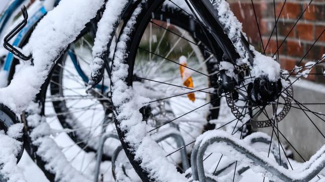 Скоро зима. В Петербурге устанавливают новые велодорожки