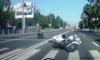 """В Петербурге """"Газель"""" сбила мотоциклиста"""