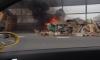 Горящий самосвал сбросил пылающий мусор на КАД