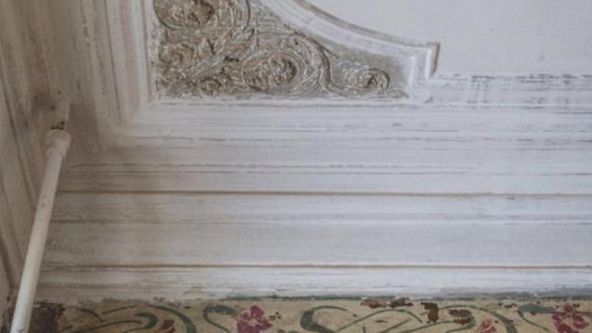 Петербуржцы при ремонте квартиры обнаружили росписи в стиле модерн