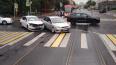 Трамваи встали из-за ДТП на перекрестке улицы Савушкина ...