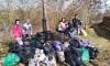 Жители Тихвина провели субботник на нескольких дорогах
